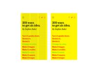 201 ways to get an idea website