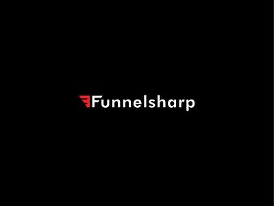 Funnelsharp Logo funnel logo logo design logo funnelsharp