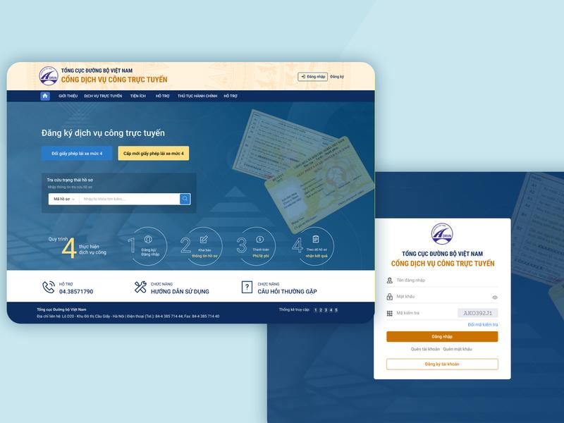 Website of Ministry of Transport of Vietnam