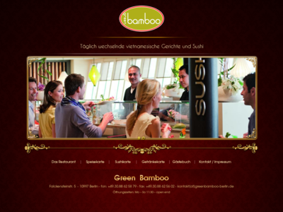 Hotel Green Bamboo page