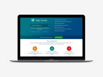 Worktime Help center page