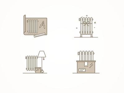 Radiator Renovator Icons