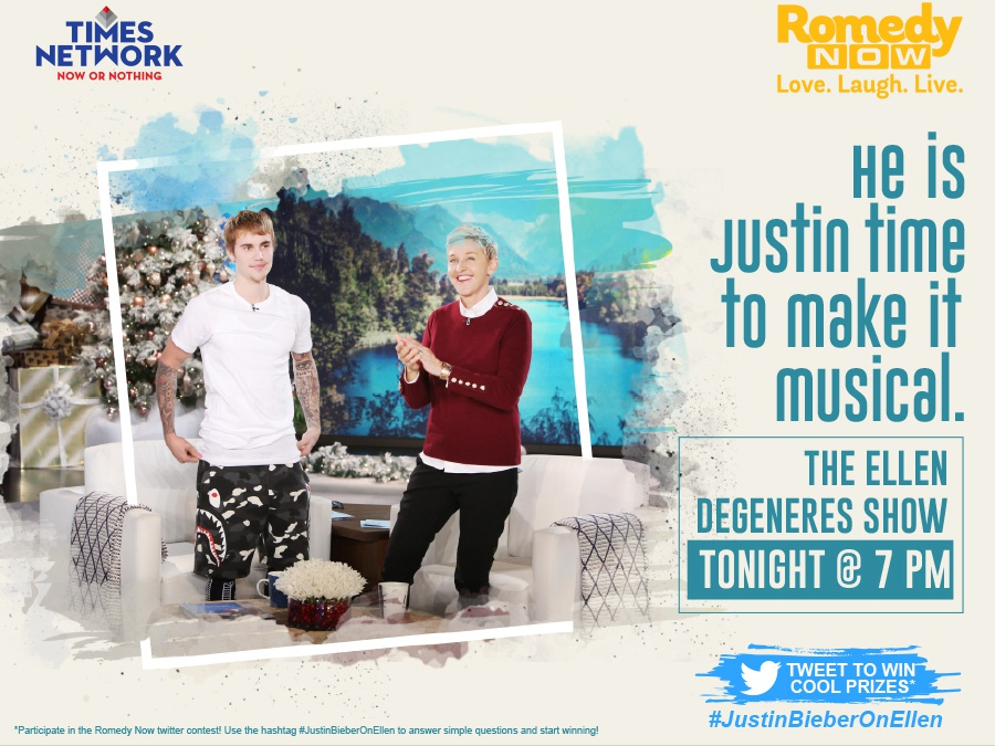 Romedy Now | Justin Bieber | Ellen by RIDDHI MISHRA on Dribbble