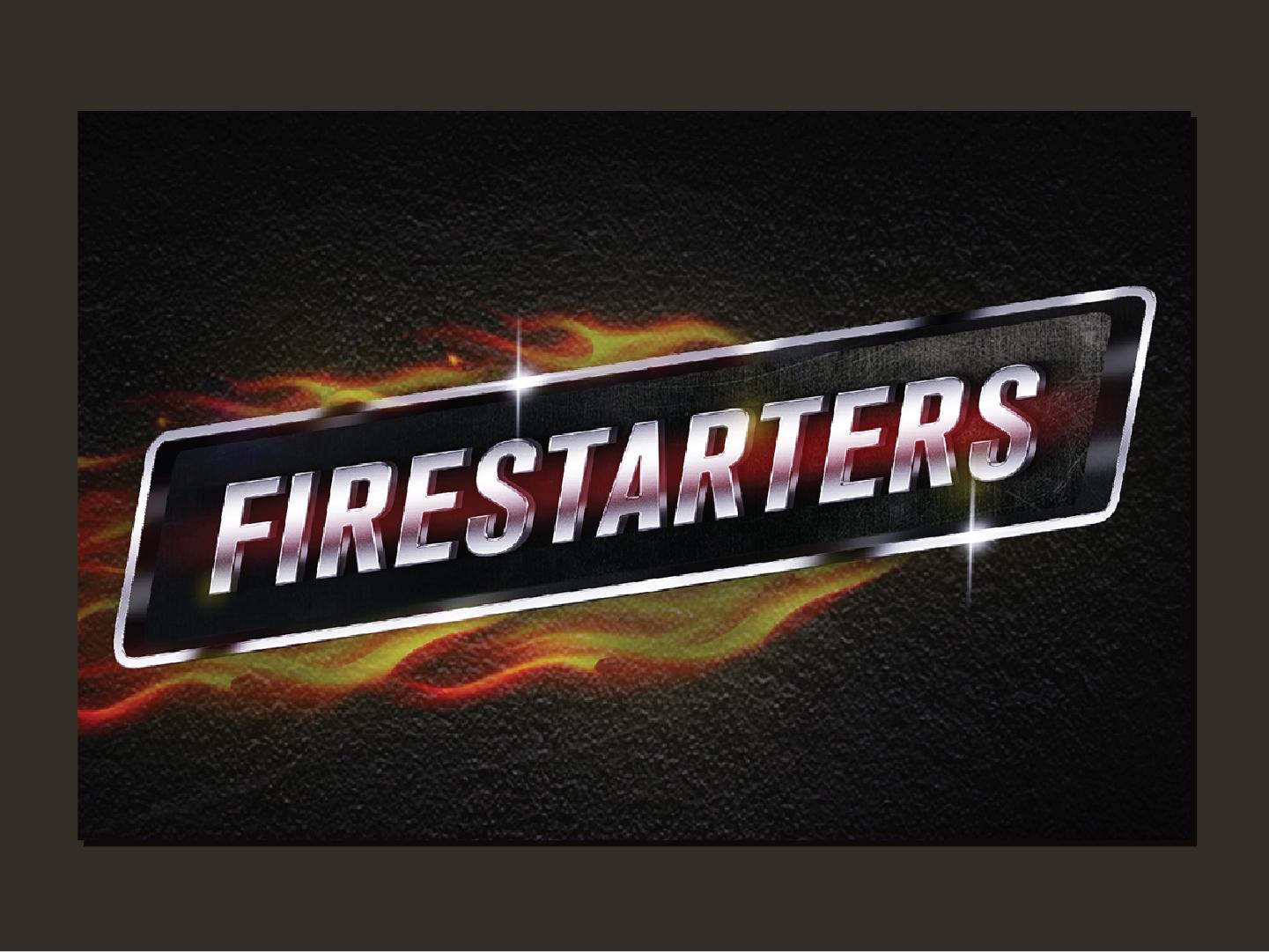 Firestarters | Logo icon logo typography graphicdesign graphic mn channel movie hollywood branding vector illustration art illustrator designer design