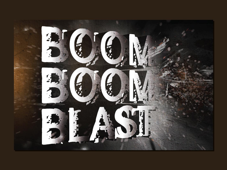 Boom Boom Blast | Logo icon type logo typography graphic graphicdesign timesnetwork mn channel movie hollywood branding vector illustration art illustrator designer design