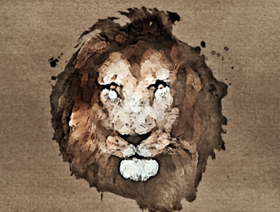 Lion Face | Digital Painting