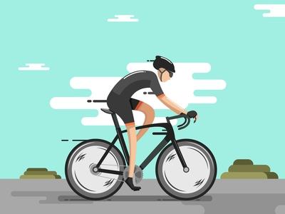Refreshing with bike