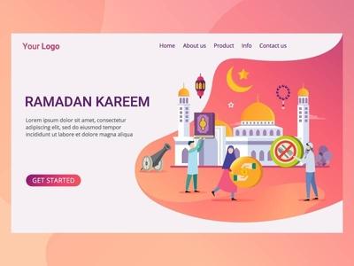 Landing Page Ramadan Kareem