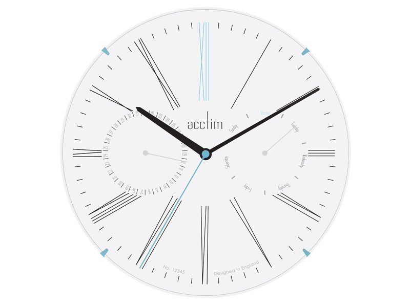 Sketch Collection Day Date Wall Clock Light Acctim By Keith