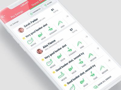 4DM App screen dashboad golf 4dm iphone design app interface ui