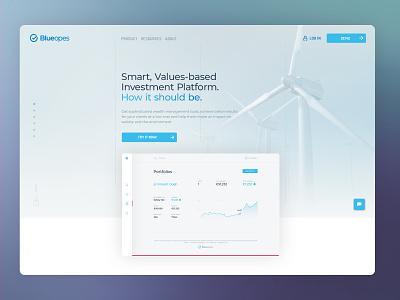 BlueOpes landing page webdeisgn financial landingpage branding webdesign interface ui design blueopes