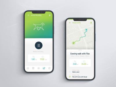 Fibo App screens app concept fibo pet dog mobile ux app interface ui design