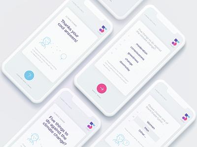 5words App Design typography ios app survey questions branding iphone ui interface design