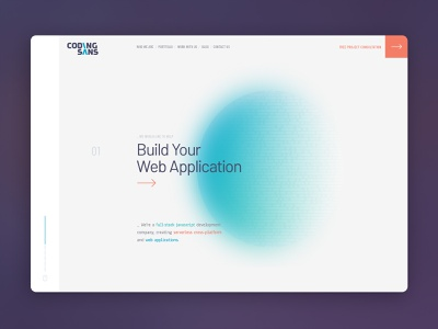 Codingsans Landing page codingsans agency development landing page ux ui branding webdesign web graphic design design