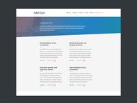 Navega Content Screen