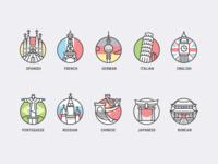 Color Language Icons for Drops App