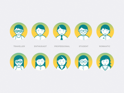 Drops Profile Icons learning words app interface ui design drops profile avatar icons icon
