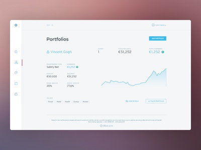 Blueopes UI Layz graphs blueopes financial webdesign ux interface ui design