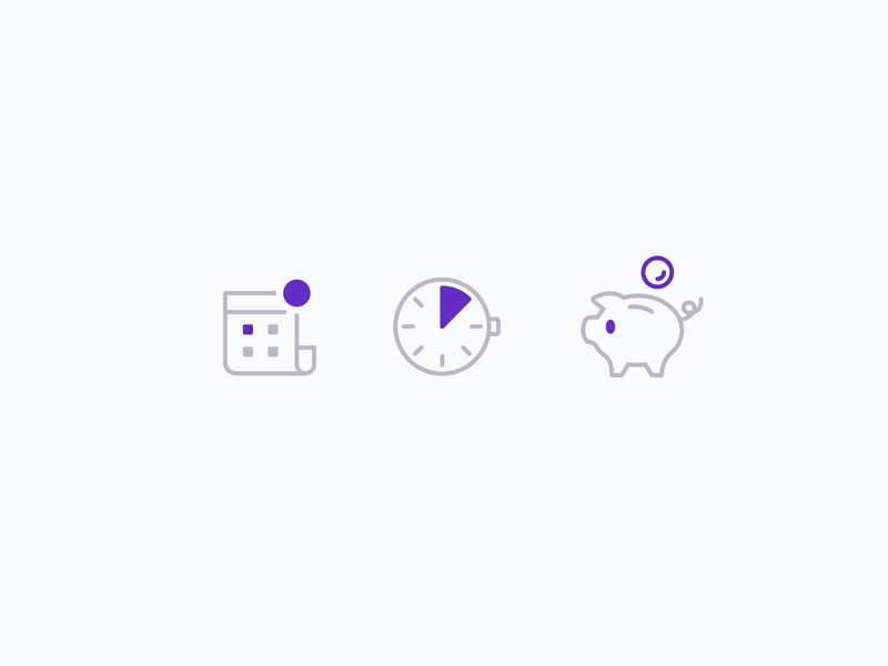 Intimebank Icons ui branding interface landingpage intimebank vector illustration icons icon webdesign design