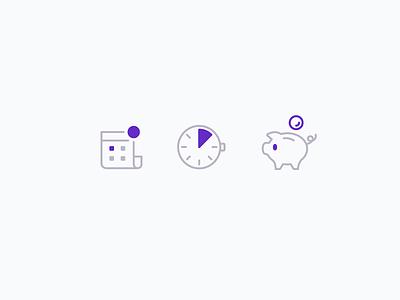 Intimebank Icons ui branding interface landingpage intimebank vector illustration icons icon webdesign design