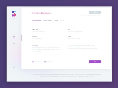 5words Browser UI / Form questions form ux webdesign interface ui design