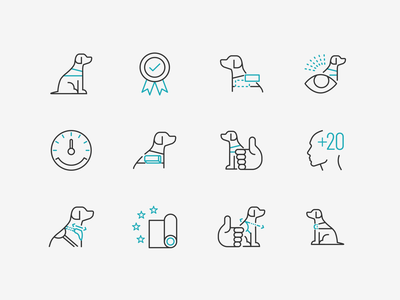 K9 Landing page icons product design pet dog fibo vector illustration icons icon interface ui webdesign design