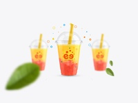 2Tea Pearl Milk Tea Logo Design