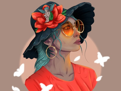 Calm Girl girl digitalart draw design character