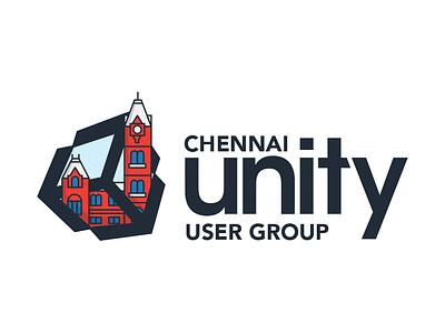 Chennai Unity logo tamil games unity branding icon design illustration logo
