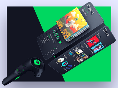VR  spotify interface tyler the creator c4d interface design 3d interface music spotify vr