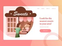 Sweets Store Header Mockup