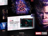 Avengers Website Mockup