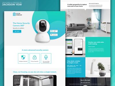 Webcam Brand Landing Page
