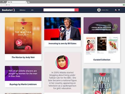 Library Newsfeed dynamic website web page design newsfeed web deisgn web ux ui