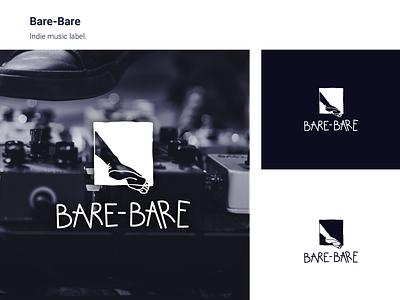 Bare Bare typography lettering identity branding hand lettering handwritten logo design logo