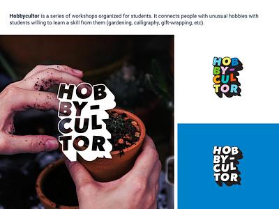 Hobbycultor Logo logotype branding identity logo design vector typography design logo