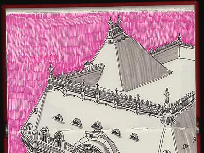 Daily sketch printdesign print pink sketchbook drawing illustration sketch