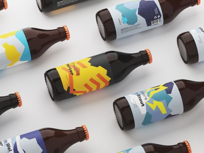 Drizzle Brewery bottles packaging concept brewery glass bottle beer bottle craft beer packaging design packaging art direction branding