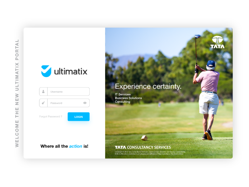 Ultimatix UI - Tata Consultancy Services by Santosh Kewlani