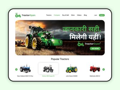 Tractor Gyan WebDesign Concept