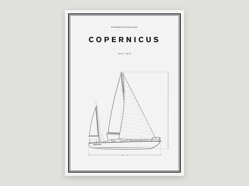 Copernicus / Volvo Poster design flat yacht copernicus volvo saling poster volvo ocean race volvo