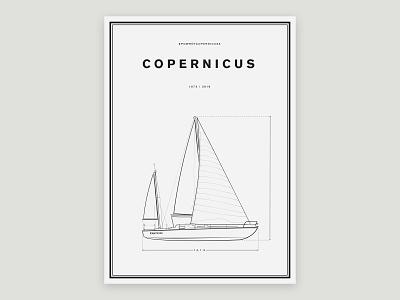 Copernicus / Volvo Poster design flat yacht copernicus volvo saling poster volvo ocean race volvo