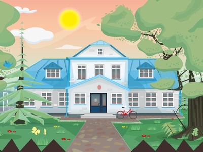 Primary school - Illustration branding design illustration