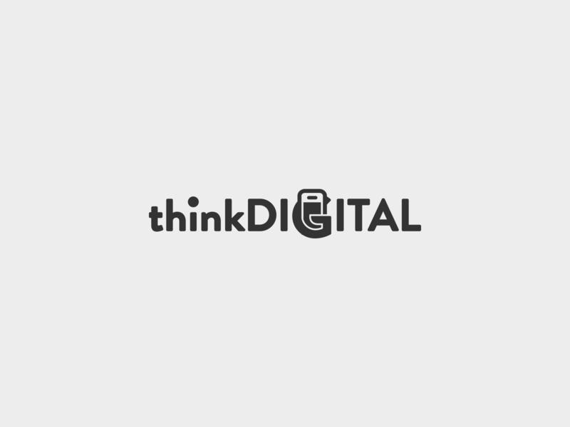 thinkDigital - logo logotypedesign identity logotype logo branding