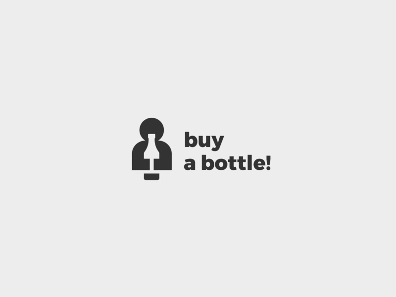 Buy a bottle! Logo negative space logo minimalist negative negative space flat identity logotype branding logo