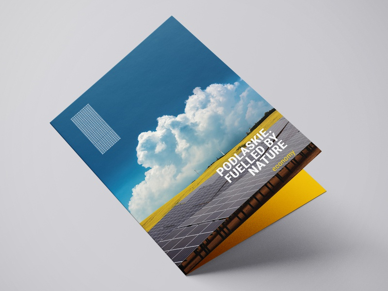 Brochure - Podlaskie minimalist minimalism nature a5 flyer a5 brochure print