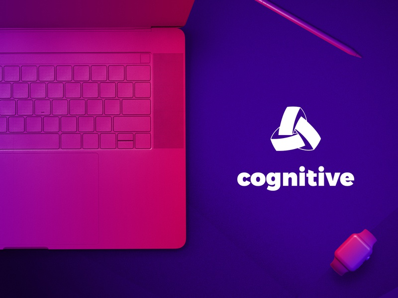 Cognitive - Identity startup branding multicolor color flat gradient logo identity