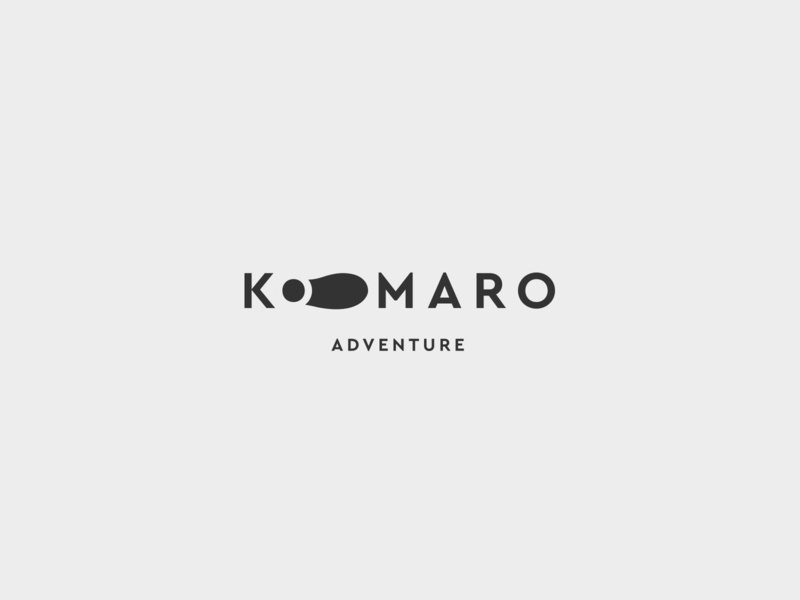Komaro - Survival school school survival adventure negative space logo negative space flat logo