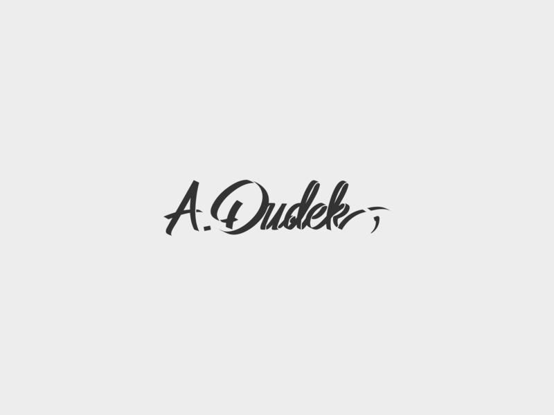 A.Dudek - logotype logotypedesign logotype identity logo sign typography