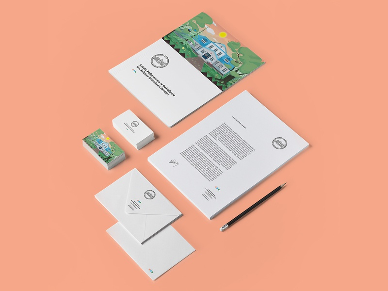 Primary school - Illustration identity minimalist splitscreen identity school illustration branding